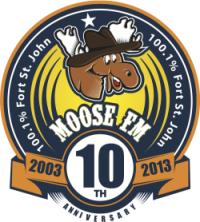 Moose FM Anniversary Logo